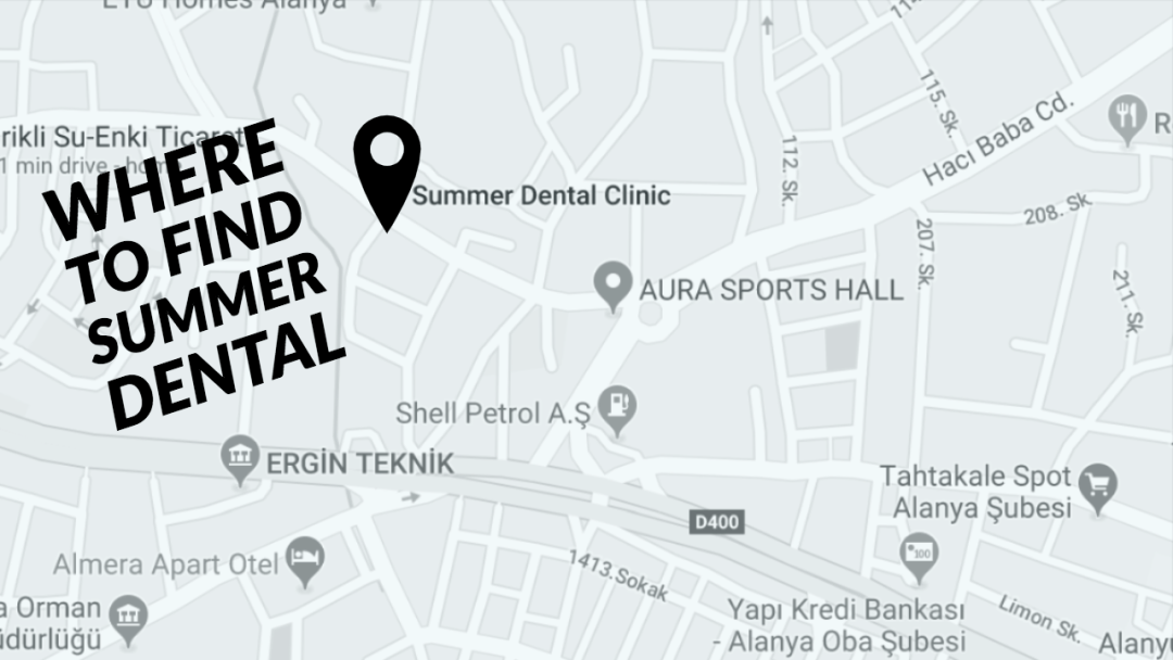 WHERE IS SUMMER DENTAL - MAP OF SUMMER DENTAL ALANYA GUIDE TO BEST DENTISTS NEAR ME